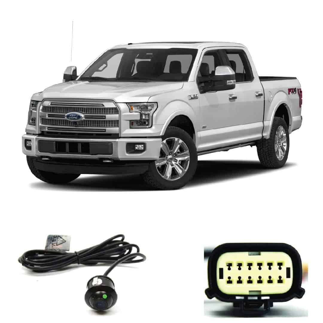 Brandmotion 9002-7446 Dual Mount License Plate Mounted Backup Camera w//Factory Tailgate Harness for 2015 and Newer Ford F-150 Trucks